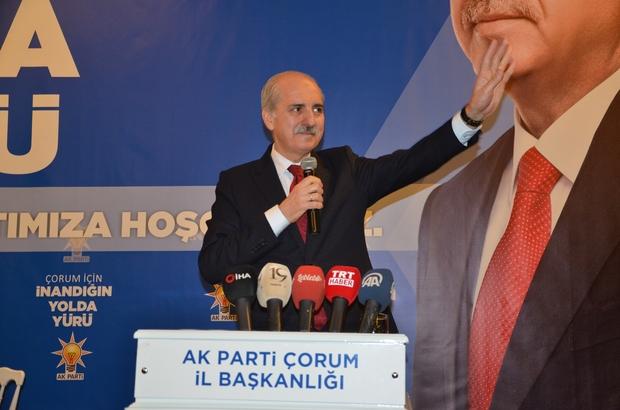 """Kurtulmuş'tan gündeme ilişkin önemli açıklamalar AK Parti Çorum İl Başkanlığı tarafından düzenlenen İl Danışma Toplantısı'nda konuşan AK Parti Genel Başkanvekili Numan Kurtulmuş: """"Artık bu memlekette milletten başka kimsenin beşeri planda sözü olmayacak"""" """"Asker torunu olarak söylüyorum; Türk Silahlı Kuvvetleri bu memleketin birliğinin, beraberliğinin ve bağımsızlığının sembolüdür ve en önemli garantisidir"""""""