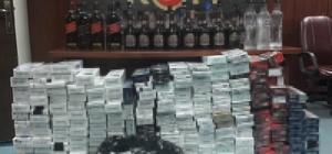 Adana'da 85 şişe kaçak içki ve 5 bin 838 paket sigara ele geçirildi