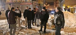 Vali Bilmez karla mücadele çalışmalarını inceledi