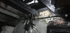 Tarsus'ta 2 katlı evde yangın