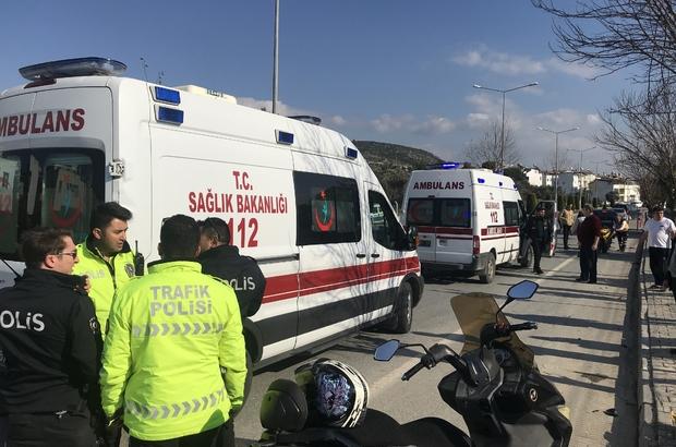 Ağır yaralanan motorsiklet sürücüsü hayatını kaybetti