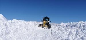 Çaldıran'da kar kalınlığı 1,5 metreyi geçti