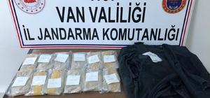 Kıyafet astarına gizlenmiş 3 kilo 100 gram eroin ele geçirildi