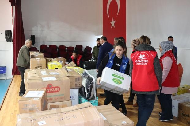 Gençlik Merkezinden İdlib'e yardım