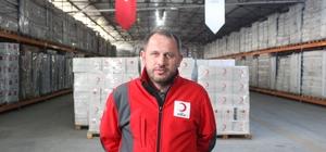 """Türk Kızılay Suriye Alan Koordinatörü Kökcan: """"Öncelikle barınmayı sağlamalıyız"""" Kökcan, Türk Kızılayı'nın lojistik depolarının işleyişi anlattı"""