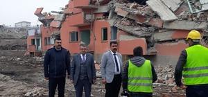 Pınarbaşı ilçesinden yola çıkan yardım tırı deprem bölgesine ulaştı