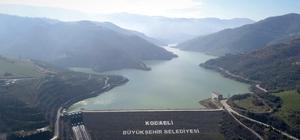 (Özel) Kuruma tehlikesi yaşayan barajın su seviyesi yüzde 86'ya çıktı Kocaeli'nin su ihtiyacını karşılayan Yuvacık Barajı'nda su seviyesi yüzde 86'ya yükseldi Su seviyesi yükselen Yuvacık Barajı havadan görüntülendi