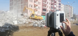 Malatya'da yapılar mercek altına alındı Yıkılan binaların olduğu caddelerde evler lazerle tarandı