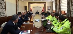 Bayburt'ta otobüs kazalarının önlenmesine yönelik toplantı yapıldı
