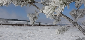 Çıldır'da doyumsuz kar manzarası