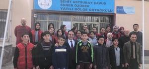 2 bin 200 öğrenciye karne hediyesi dağıttılar