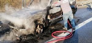 Elektrik kontağı arazi aracını yaktı