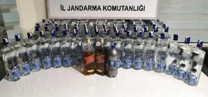 Side'de alkollü içecek çalan hırsızlara suçüstü