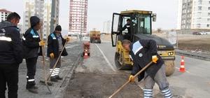 Talas'ta yaz kış asfalt