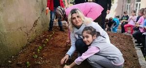 Bir okulun atıl alanı hobi bahçesi oldu