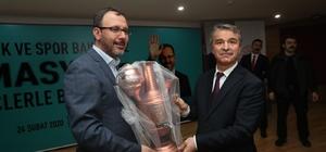 Rektör Elmacı'dan Kasapoğlu'na semaver