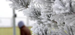 Bayburt'ta kar yağışı yerini soğuk havaya bıraktı
