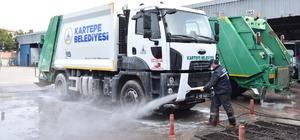 Kartepe'de çöp kamyonları her gün dezenfekte ediliyor