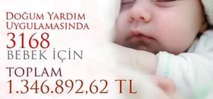 Amasya'da 1,3 milyon TL'lik doğum yardımı