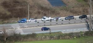 Ortaca'da havadan trafik denetimi yapıldı Dalyan yolunda havadan trafik demetimi sırasında 5 sürücüye 1128 TL cezai işlem uygulandı