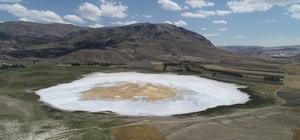 Tamamen kaybolmuştu, yağışlarla geri geldi Sivas'ta son yıllarda yaşanan kuraklıkla tamamen kuruyan Kellah gölü, yağan yoğun karlarla yeniden su tuttu