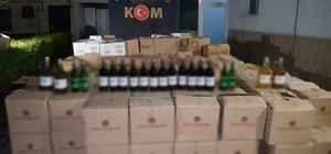 Osmaniye'de kaçak içki operasyonu Polisin yaptığı operasyonda 4 bin 616 adet şişe kaçak içki ele geçirildi