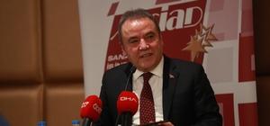 """Başkan Böcek: """"Şirketleri zengin etmeye gelmedim"""" Antalya Büyükşehir Belediye Başkanı Muhittin Böcek: """"Liman- Kundu hattı ön fizibilite ihalesine çok kısa zamanda çıkacağız"""""""