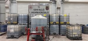 Konya'da kaçak akaryakıt operasyonu Atık yağlardan üretilen 46 bin litre kaçak akaryakıt ele geçirildi