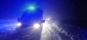 Hasta taşıyan ambulans tipide yolda mahsur kaldı