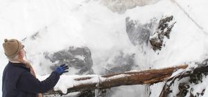 Konya'da Cula Deliği'ne tonlarca kar depolandı