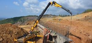 Katı atık tesisi inşaatının yüzde 70'i tamamlandı