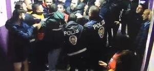 Futbolcu ve polis arasında yaşanan gerginlik güvenlik kamerasına yansıdı