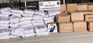 Niğde'de 3 bin 650 kilo kaçak tütün ele geçirildi