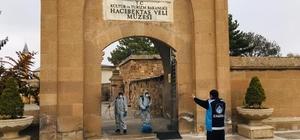 Hacıbektaş Veli Müzesi dezenfekte edildi