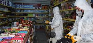 Büyükşehir belediyesi ilçeleri dezenfekte ediyor