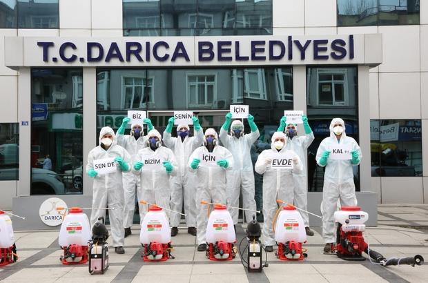 Darıca belediyesi ekiplerinden 'evde kal' çağrısı - Kocaeli Haberleri