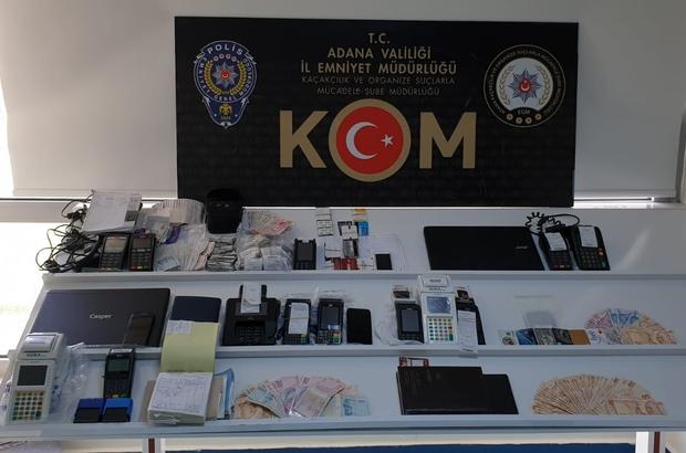 Adana'da pos tefeciliği operasyonu Adana'da pos tefeciliği yaparak haksız kazanç elde ettiği öne sürülen 17 zanlı gözaltına alınırken, 97 bin 235 lira para ele geçirildi