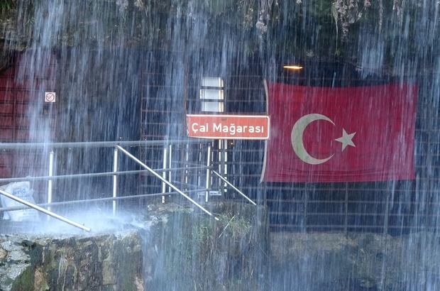Dünyanın en uzun ikinci mağarasında Korona virüs önlemi Korana virüs vakalarının görülmesinin ardından Çal Mağarası ziyarete kapatıldı