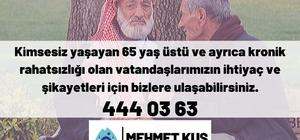 Eyyübiye Belediyesi yaşlıları unutmadı