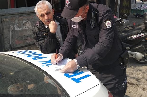 Aydın'da yasaklara uymayan yaşlılara ceza uygulanmaya başlandı