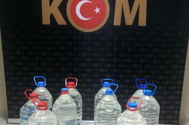 Ceyhan'da 50 litre kaçak alkol ele geçirildi