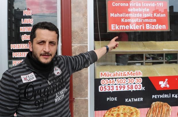 Korona virüs nedeniyle işsiz kalanlara ekmeği ücretsiz veriyor Sivas'ta bir pide fırını işletmecisi korona virüs nedeniyle işsiz kalan vatandaşlara ekmeği ücretsiz veriyor
