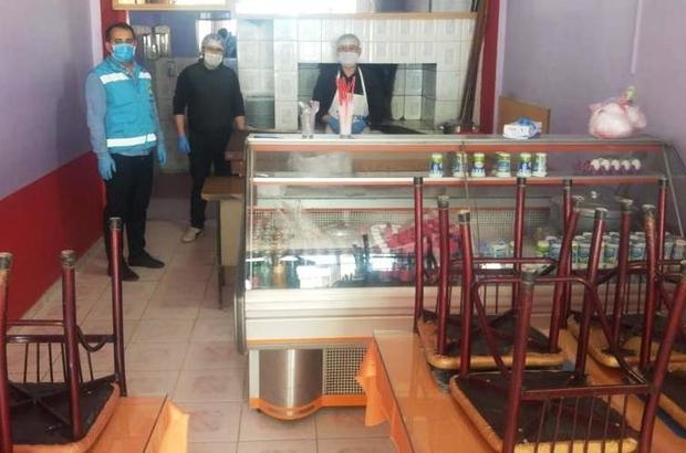 Hisarcık'ta gıda üretimi yapılan iş yerleri Korona virüs konusunda bilgilendirildi