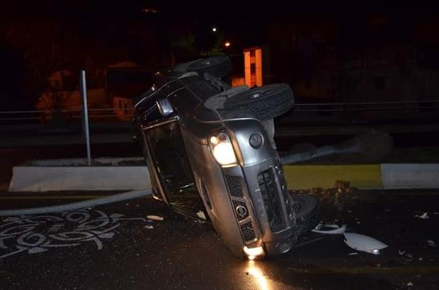 Söke'de kamyonet takla attı: 2 yaralı