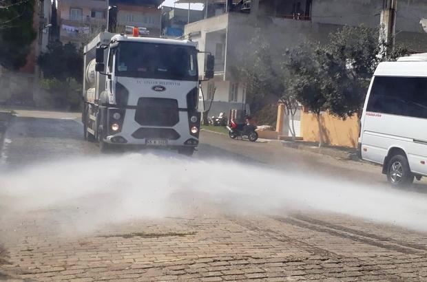 Efeler'de dezenfekte çalışmaları devam ediyor