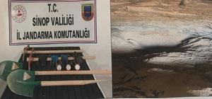 Sinop'ta izinsiz kazı operasyonunda 5 kişiye suçüstü