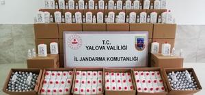 Yalova'da kaçak dezenfektan ele geçirildi