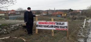 Korona virüs vakası olmayan köylerine giriş yasağı koydular