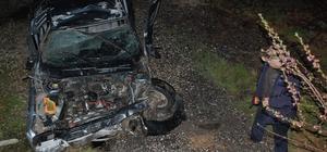 Tekirdağ'da feci kaza: Otomobil hurdaya döndü