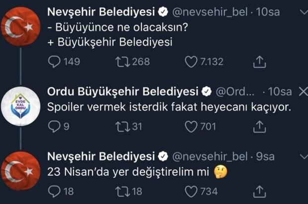 Büyüyünce ne olacak; Büyükşehir Belediyesi Nevşehir Belediyesi yazdı, Ordu Büyükşehir Belediyesi cevap verdi